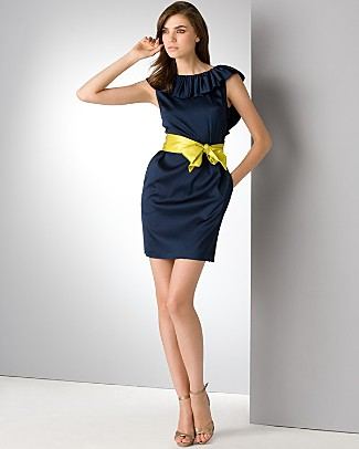 aqua_navy_blue_open_back_ruffle_dress