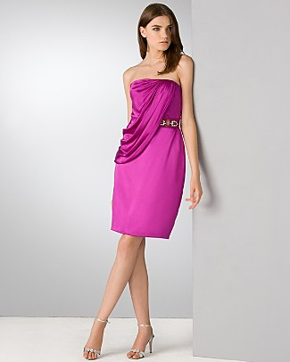 badgley_mischka_satin_draped_strapless_dress