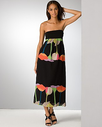 nicole_miller_black_printed_georgette_long_dress