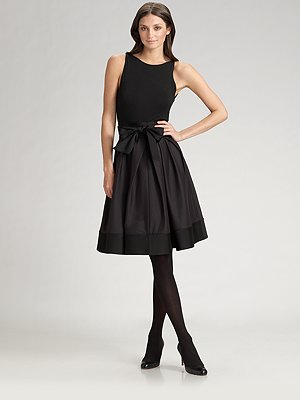 donna-karan-stretch-silk-taffeta-dress