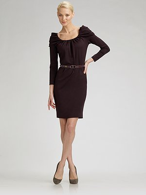 escada-draped-shoulder-dress