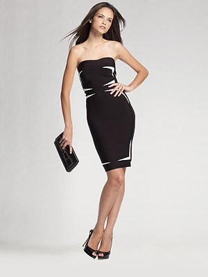 herve-leger-strapless-contrast-insert-dress