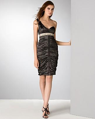 nicole-miller-one-shoulder-little-black-dress