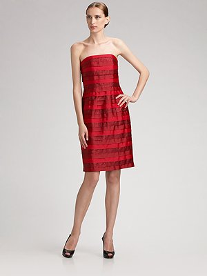 cyril_verdavainne_strapless_metallic_brocade_ribbon_dress
