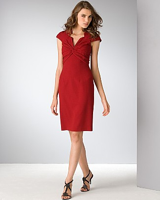 david_meister_twisted_front_crepe_dress